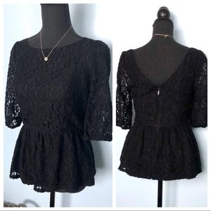 Juicy Couture• Peplum Lace Top
